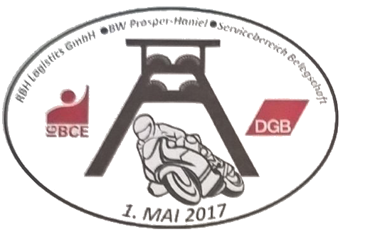 Motorradkorso zum 1. Mai in Bottrop